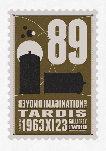 Nasa Wall Art - Digital Art - Starschips 89-bonus-poststamp - Dr Who - Tardis by Chungkong Art