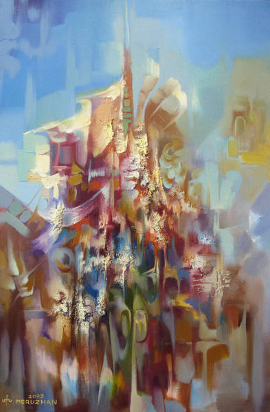 Abstractionism Painting - Start To Fly by Meruzhan Khachatryan