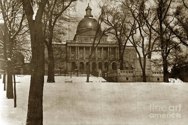 Photograph - State Building Boston Massachusetts Circa 1900 by California Views Archives Mr Pat Hathaway Archives
