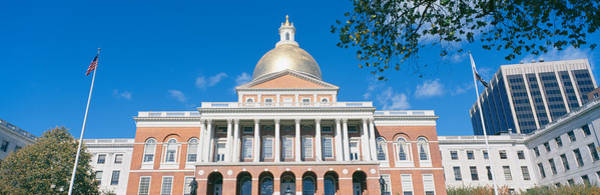 Edifice Photograph - State Capitol, Boston, Massacushetts by Panoramic Images
