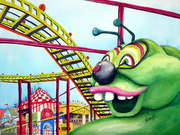 Carnival Painting - State Fair Caterpillar by Sam Sidders