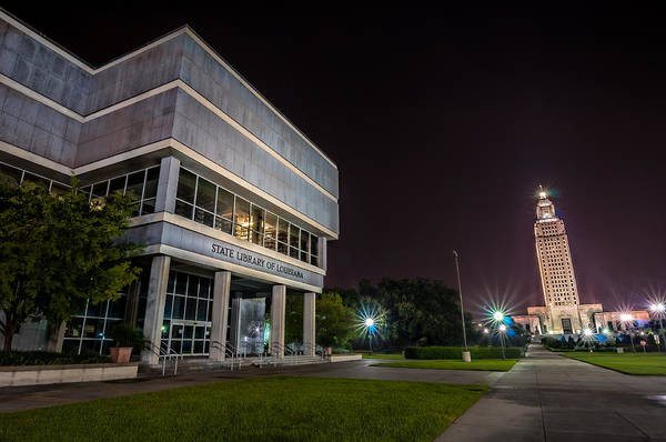 Photograph - State Library Of Louisiana by Andy Crawford