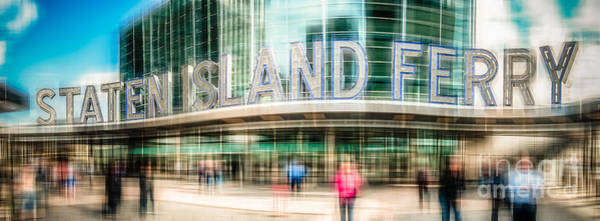 Photograph - Staten Island Ferry Ld by Hannes Cmarits