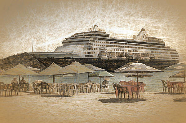 Holland America Line Wall Art - Photograph - Statendam by Maria Coulson