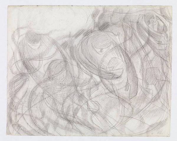 Boccioni Wall Art - Drawing - States Of Mind The Farewells by Umberto Boccioni