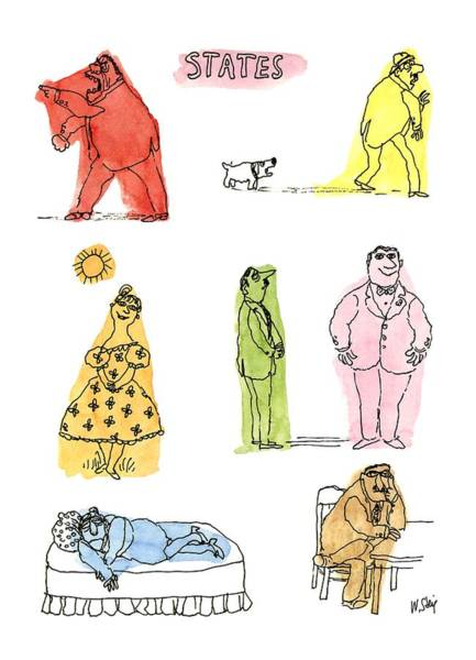 Frightening Drawing - States by William Steig