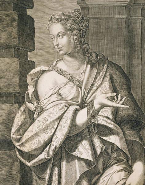 Poetry Drawing - Statilia Messalina Third Wife Of Nero by Aegidius Sadeler or Saedeler