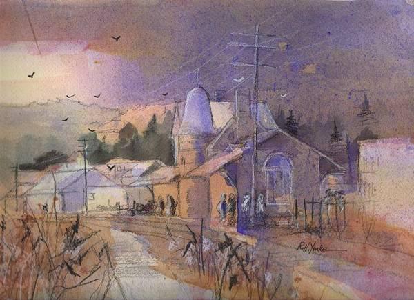 Garrett County Wall Art - Painting - Station Blues by Robert Yonke