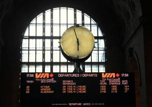 Wall Art - Photograph - Station Clock by Valentino Visentini
