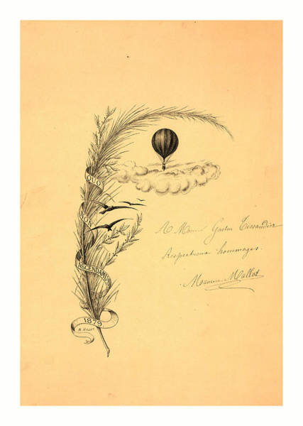 Wall Art - Drawing - Stationery Illustrated With A Stalk Of Wheat Wrapped by M. Mallet, 19th Century