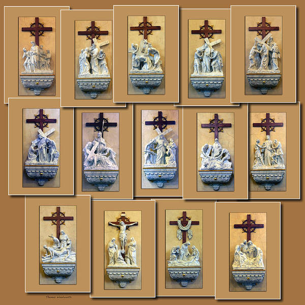 Wall Art - Photograph - Stations Of The Cross Collage by Thomas Woolworth