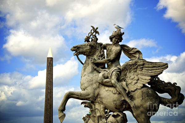 Wall Art - Photograph - Statue . Place De La Concorde. Paris. France by Bernard Jaubert