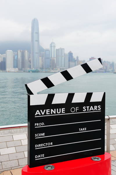 Photograph - Statue And Skyline In Avenue Of Stars by Songquan Deng
