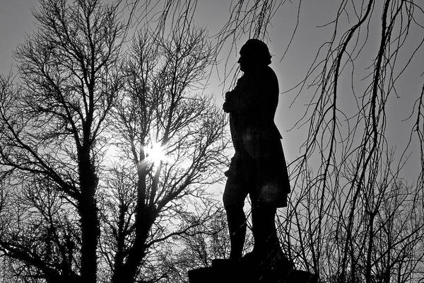 Photograph - Statue At Dusk by Alice Gipson