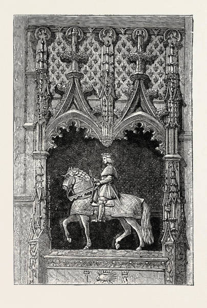 Chateau Drawing - Statue At The Chateau Of Blois, France by French School
