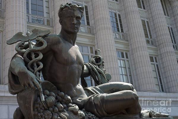 Liane Photograph - Statue At The State Capital - Jefferson City - Missouri by Liane Wright