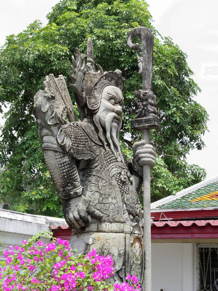 Statue Photograph - Statue At Wat Phra Kaew by Steve@colorado