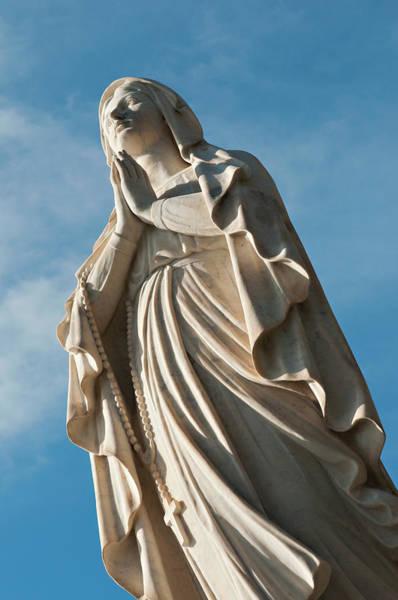 Statue Photograph - Statue Madonna Di Lourdes by Driendl Group