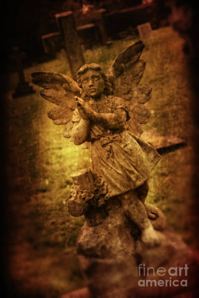 Wall Art - Photograph - Statue Of Angel by Amanda Elwell