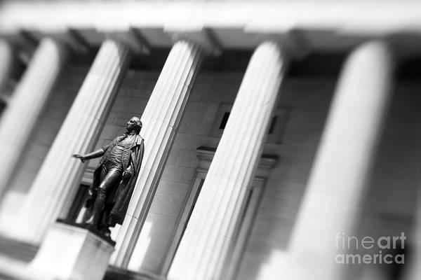 Washington Street Photograph - Statue Of George Washington by Tony Cordoza