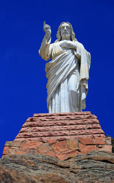 Photograph - Statue Of Jesus by Shane Bechler