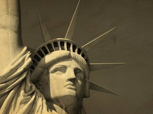 Battery D Wall Art - Photograph - Statue Of Liberty Closeup  by Dan Sproul
