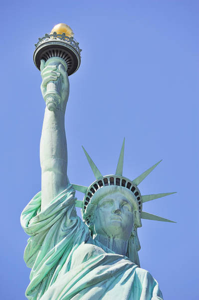 Wall Art - Photograph - Statue Of Liberty Closeup  In New York City Manhattan by Songquan Deng