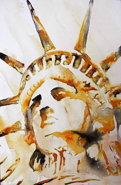Unico Painting - Statue Of Liberty Closeup by J  - O   N    E