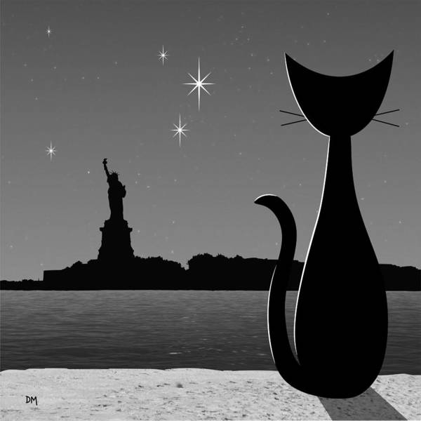 Digital Art - Statue Of Liberty by Donna Mibus