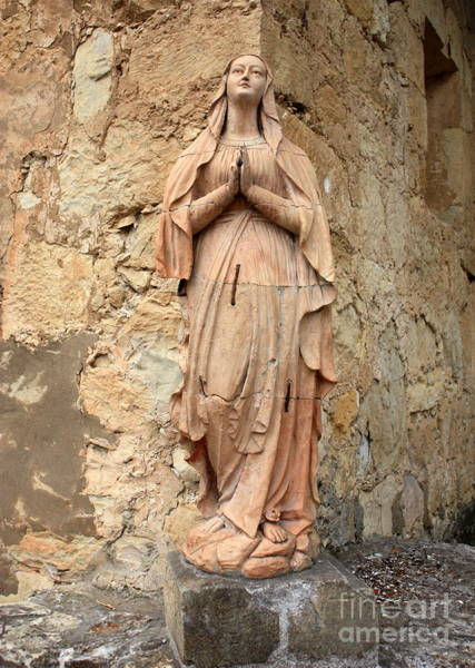 Photograph - Statue Of Mary In Mission Garden by Carol Groenen