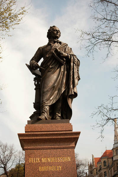 Composer Photograph - Statue Of Musical Composer Felix by Dave Bartruff