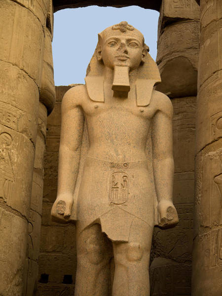 Photograph - Statue Of Ramesses At Luxor by Brenda Kean