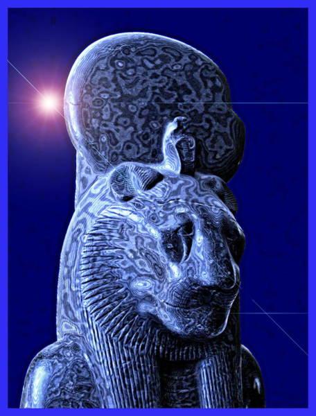 Ra Digital Art - Statue Of The Egyptian Lion Deity Maahes by Harold Bonacquist