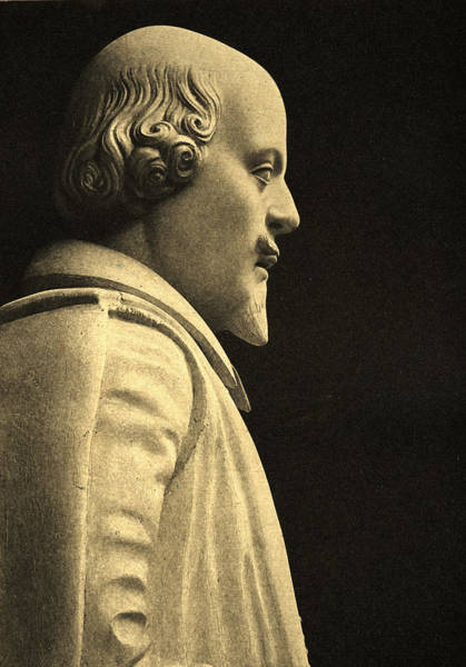 Elizabethan Wall Art - Photograph - Statue Of William Shakespeare by English School