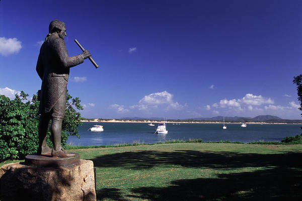Foreshore Photograph - Statue On The Cooktown Foreshore by Paul Dymond