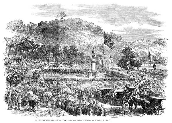 Wall Art - Painting - Statue Unveiling, 1868 by Granger