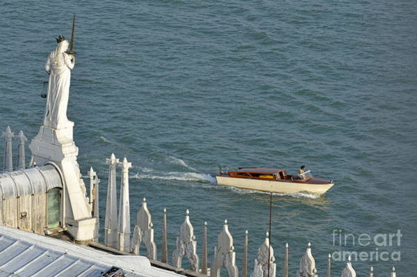 Wall Art - Photograph - Statues Of Doges Palace Facing The Lagoon by Sami Sarkis