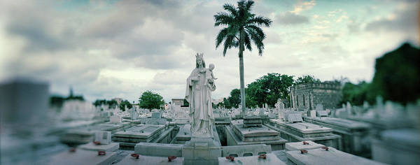 Famous Cemeteries Photograph - Statues Of Virgin And Child At Colon by Panoramic Images