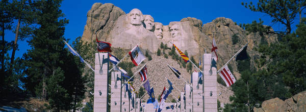Tree Face Photograph - Statues On A Mountain, Mt Rushmore, Mt by Panoramic Images