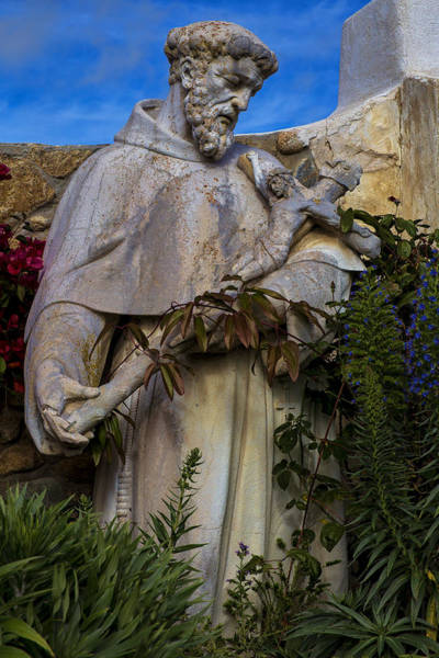 Carmel Mission Photograph - Stature Of Father Junepero Serra  by Garry Gay