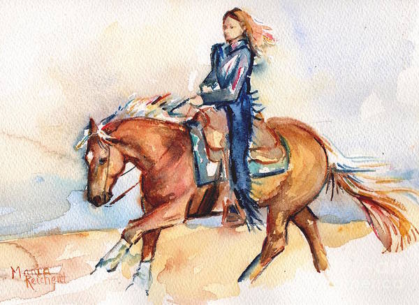 Aqha Painting - Palomino Horse Stay Gold by Maria's Watercolor