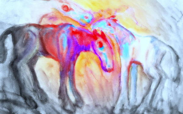 Arousal Painting - We Will Be Staying Alive Forever And Never Split Up Or Die  by Hilde Widerberg