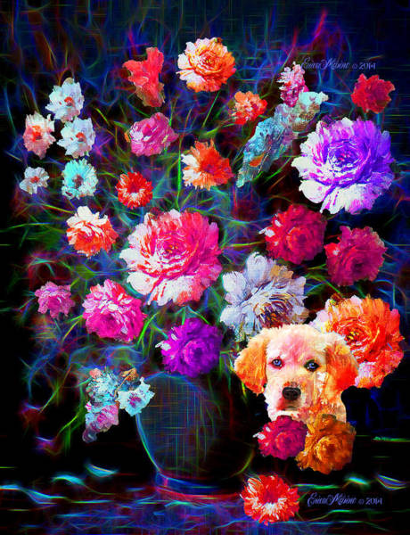 Golden Retriever Digital Art - Staying Out Of Trouble by Ericamaxine Price
