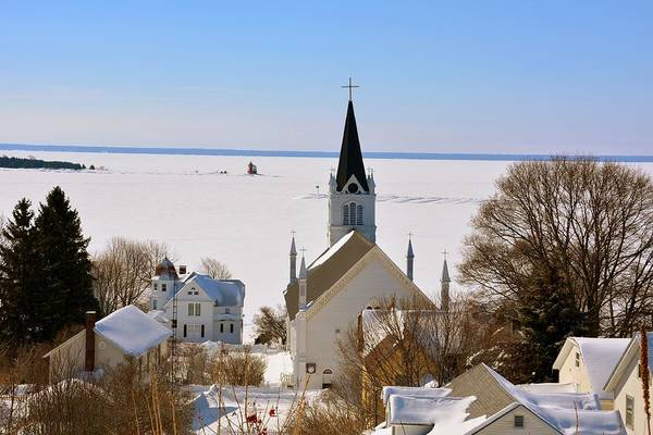 Photograph - Ste. Anne's In Winter by Keith Stokes