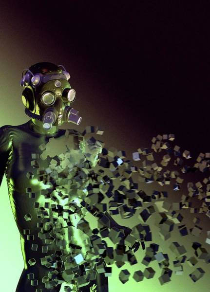 Disintegration Wall Art - Photograph - Stealth Suit by Victor Habbick Visions/science Photo Library