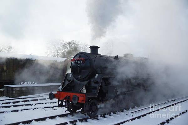 Photograph - Steam And Snow by David Birchall