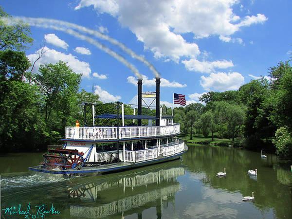Swan Boats Digital Art - Steam Boat Suwanee by Michael Rucker