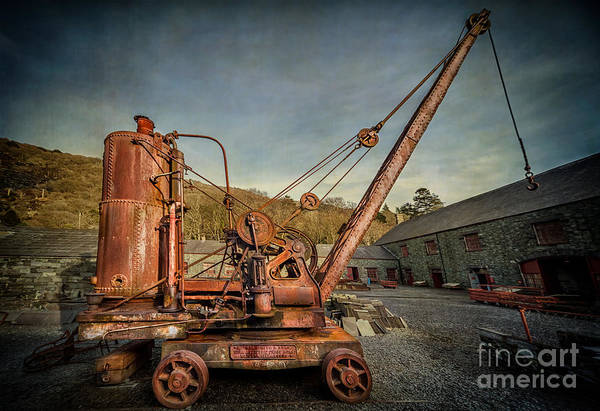Rusty Chain Photograph - Steam Crane by Adrian Evans