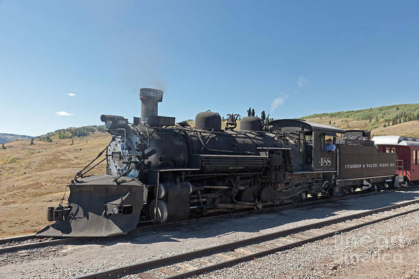 Photograph - Steam Engine 488 At Osier On The Cumbres And Toltec Scenic Railroad by Fred Stearns