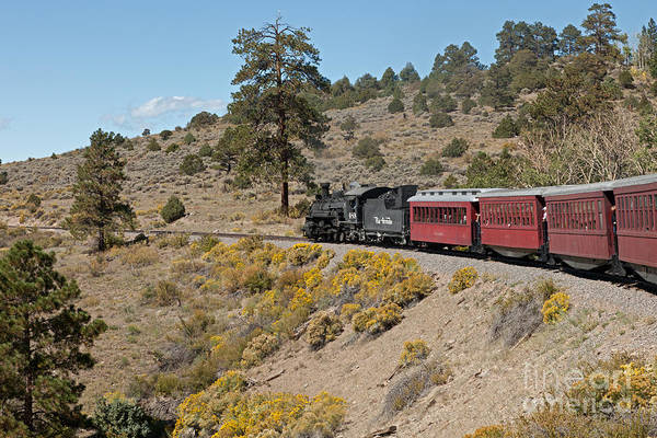 Photograph - Steam Engine 489 At Whiplash Curve On The Cumbres And Toltec Scenic Railroad by Fred Stearns